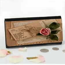 Personalised Vintage Letter Rose Ladies Large Money Coin Purse Mum Gift ST009
