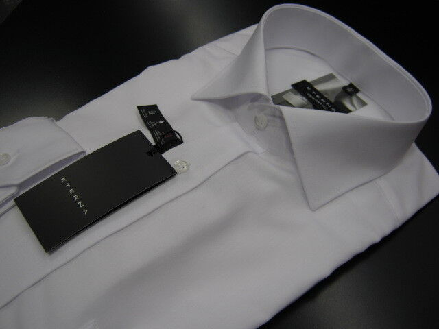 Eterna men's shirt Normal-sectionwhite non iron 100% Cotton