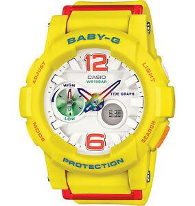 Casio BGA180-9B Women s Analog Digital Tide Graph Yellow Baby G ... 941e95cada42