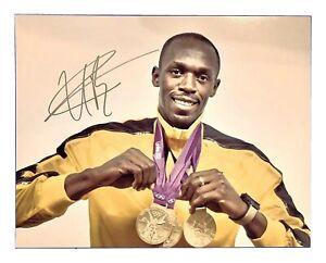 USAIN-BOLT-Original-Signed-Autographed-11X14-GOLD-MEDAL-PORTRAIT-Photo-COA