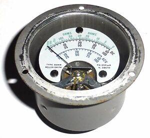 Microamperemetre-etanche-0-250-A-DC-US-NOS-NIB-Ideal-pour-vu-metre-original