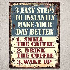 PP0026 Vintage Coffee Sign Rustic Parking Plate Home Restaurant Cafe Gift Decor