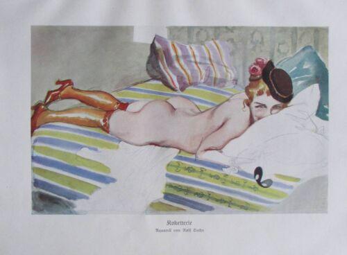 Rolf Sachs Koketterie Originaldruck aus 1931 Bild