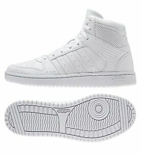 Details about ADIDAS WOMENS SHOES HIGH TOP WHITE HOOPSTER MID SNEAKERS WEDGE WALKING AW4762
