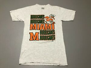Vintage-90s-Miami-Hurricanes-UM-CANES-Single-Stitch-T-Shirt-Adult-Size-S-College