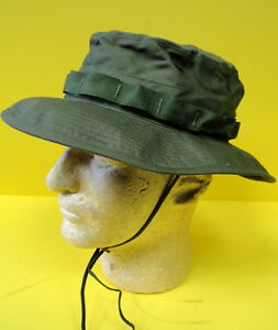 1969-US-ARMY-VIETNAM-BOONIE-HAT-W-INSECT-NET-MINT-CONDITION