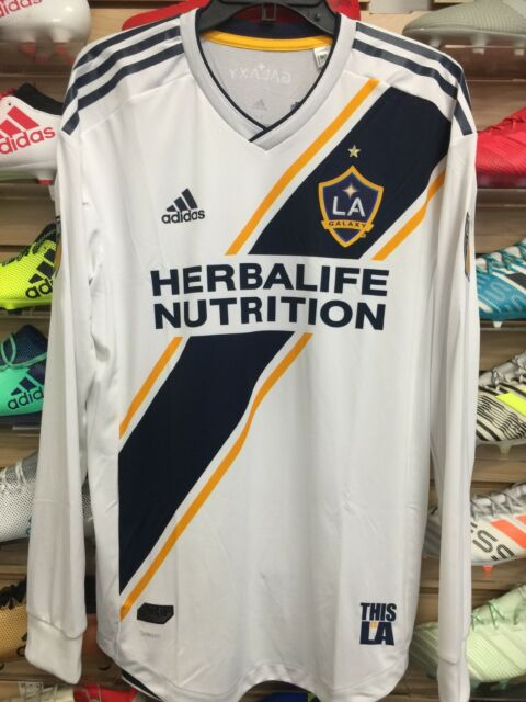 new york 4d8fc d57f3 Adidas La Galaxy Home Jersey 2018-19 Authentic Adizero Long Sleeve Size  Medium