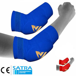 Elbow Guard Padded Brace Support Pad Arm Protector MMA Gym Fitness Guard L-XL