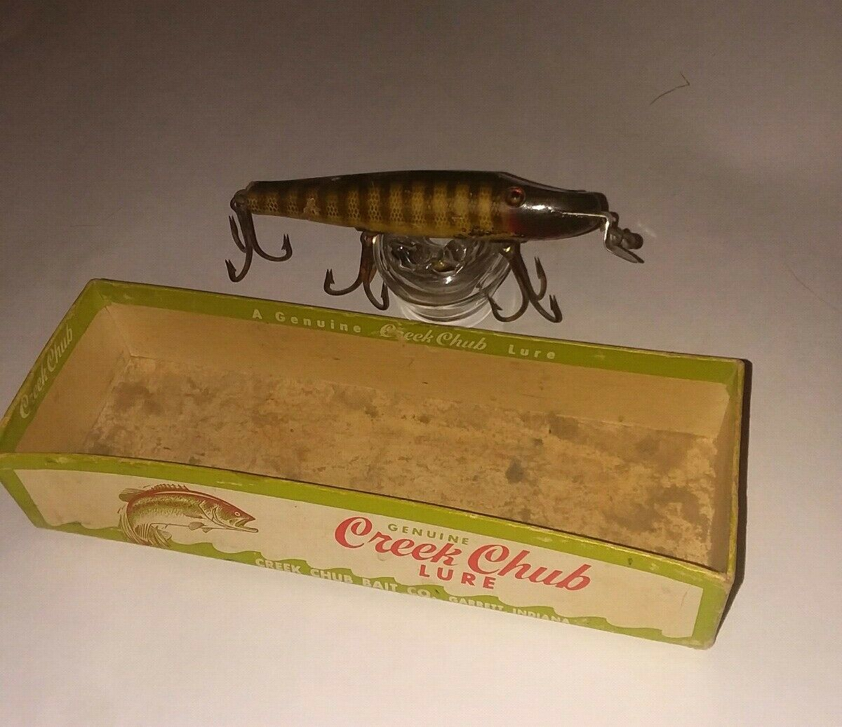 Creek Chub Pikie Minnow 700 In Box In Pike Scale Wood Vintage Collectible Lure