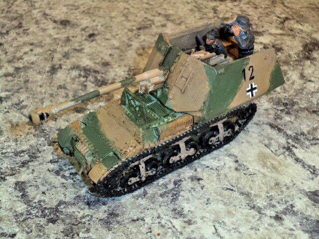 Muy bien pintado Marder I 1 alemán Perno de acción de la Segunda Guerra Mundial Modelo Nuevo