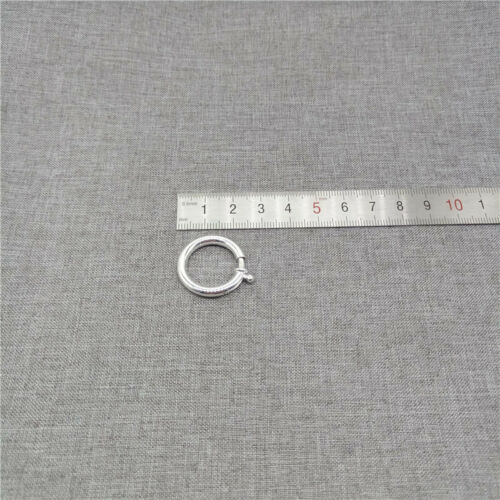 925 Sterling Silver Plain Spring Ring Clasp 23mm for Bracelet Necklace