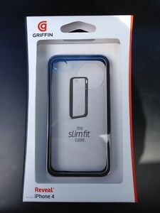 Griffin Reveal Frame for iPhone 4 4S Slim Fit Case in Black
