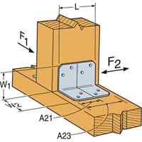 Simpson Strong-tie A23 2 X 1-1/2 Framing Angle (pack Of 10)