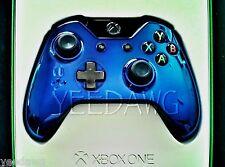 CUSTOM CHROME BLUE New Microsoft Xbox One Wireless Controller pack (USA SELLER)
