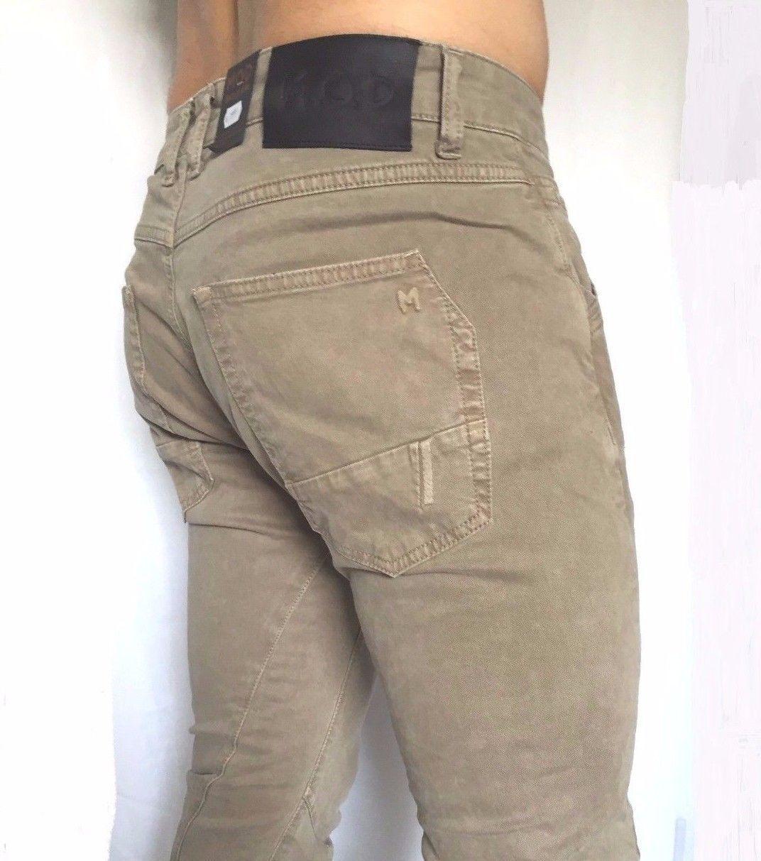 3ef7dd57 M.O.D Mod Men's Jeans Luke Slim Stretch Beige Sz. by 29 32 Bis 38 32 ...