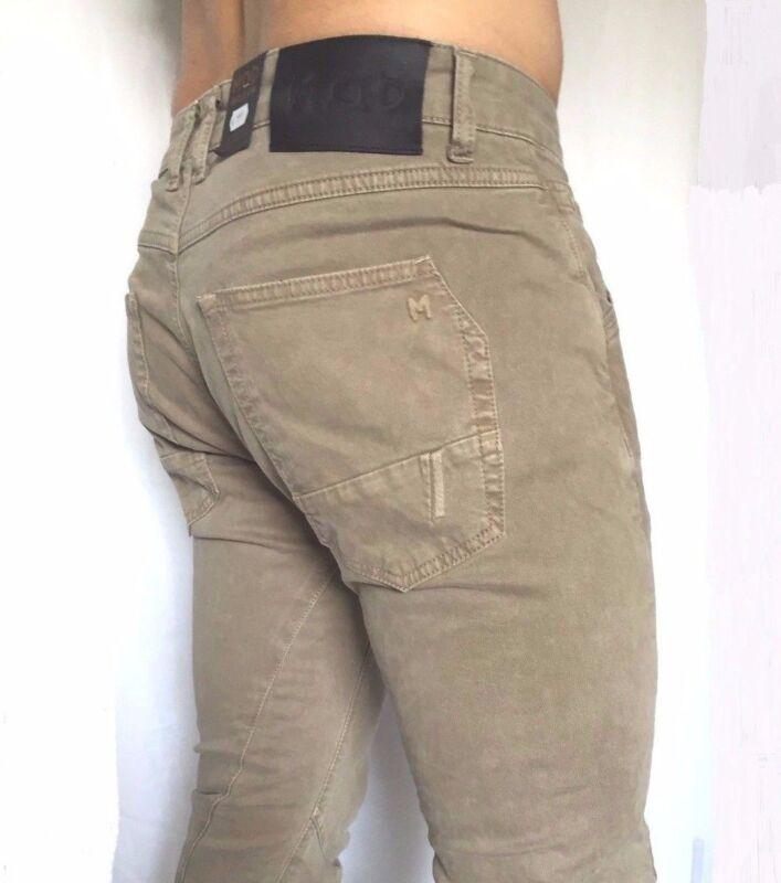 M.o.d Mod Jeans Herrenjeans Luke Slim Stretch Beige Gr. Von 29/32 Bis 38/32 Preisnachlass