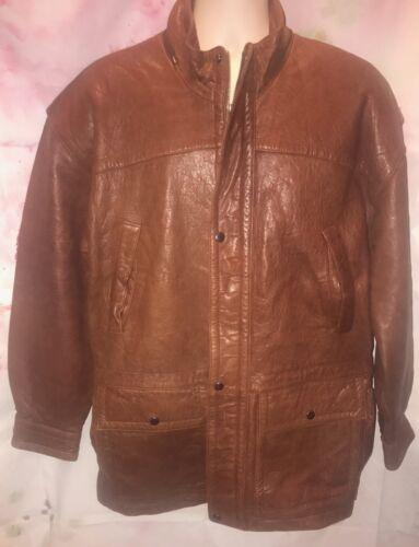Mens Midway Heavy Leather Jacket -- Size Medium