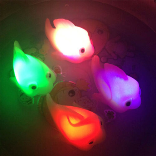 New Bathroom LED Light Kids Toys Water Induction Waterproof In Tub Bath Time Toy