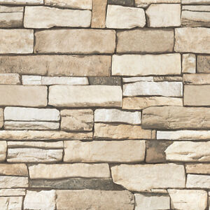 Stone Brick Wallpaper Designs Home Decor Peel Stick Self Adhesive