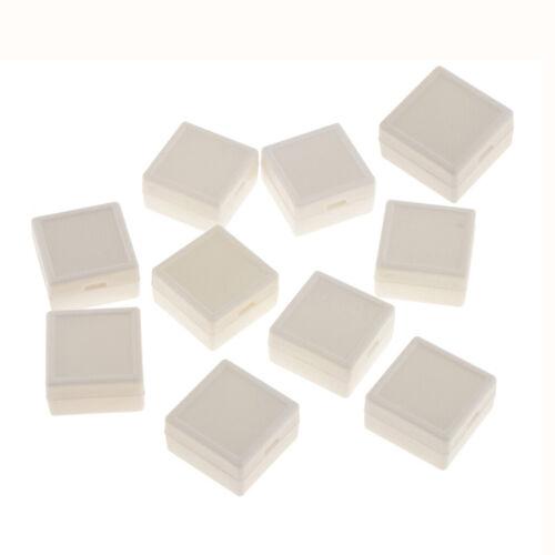 Weiß 10 Stücke Ringbox Schatulle Schmuckkasten Aufbewahrung Kunststoffboxen
