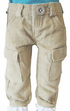 "Tan Corduroy Cargo Pants for 18"" American Girl Boy Logan Doll Clothes"