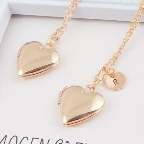 Personalised Rose Gold Heart Locket
