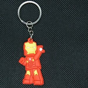 Marvel-Iron-Man-Suit-PVC-Kawaii-Cute-Cartoon-Novelty-Keyring-Keychain-Gift-Bag