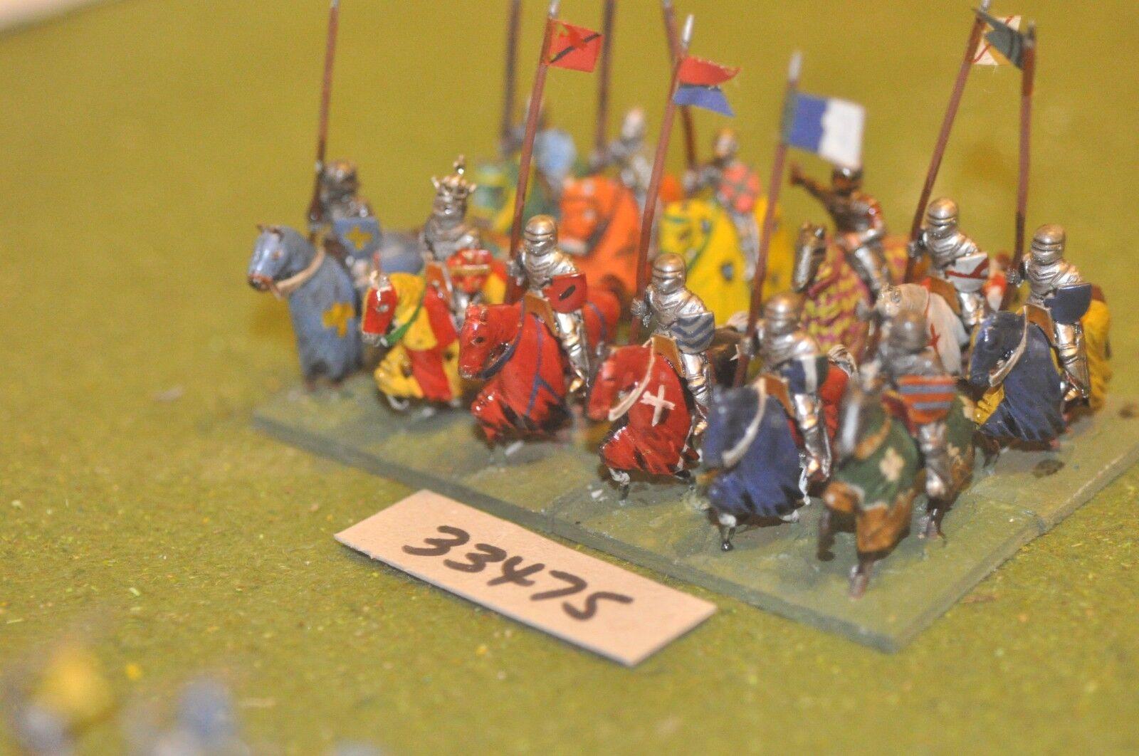 25mm mittelalterlichen   englisch - soldaten 12 zahlen - cav (33475)