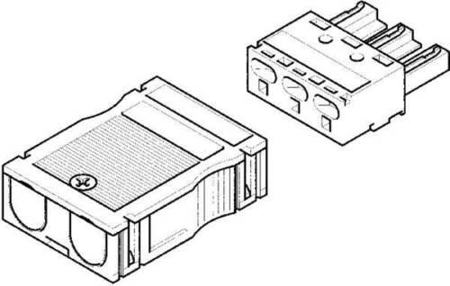 1 Stk Hager Eingangsbuchse 3-pol G4703