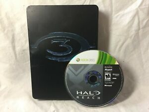 Lot-Halo-3-Metal-Box-limited-edition-Xbox-360-amp-Halo-Reach-Xbox-360-Disc-Only