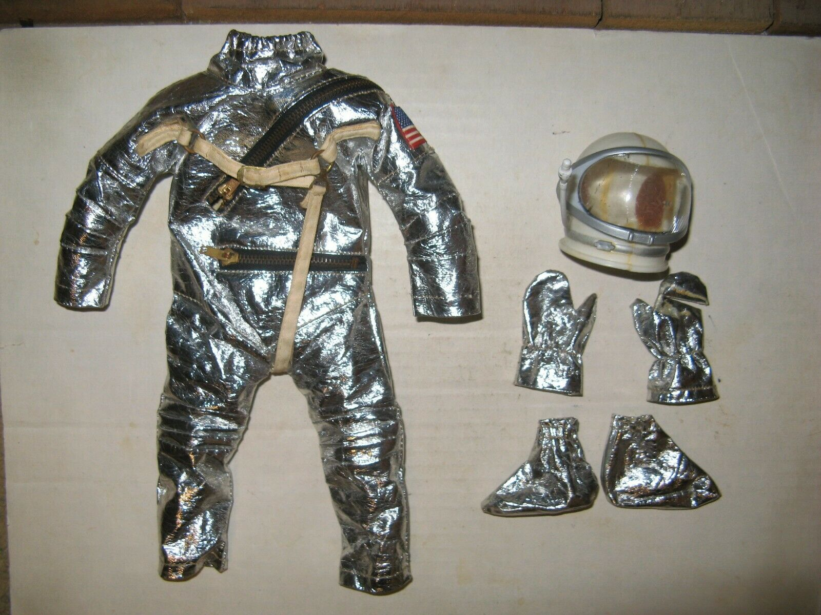 "1964 GI Joe Vintage Hasbro 12"" Early Issue 3 3 3 Zipper Spacesuit Group d814de"