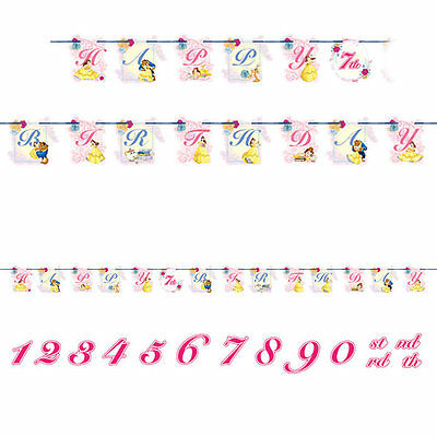 Disney Beauty And The Beast Belle Jumbo Birthday Party Banner Add an Age
