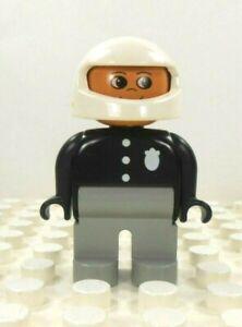 Lego Duplo Figure Fireman w// moustache Vintage approx. 2001