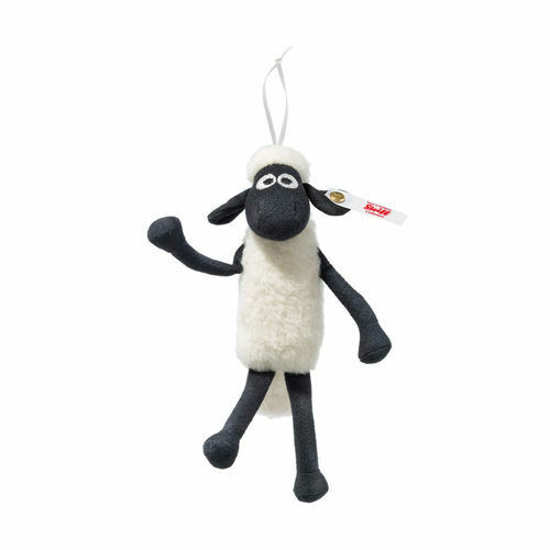 Steiff Limited Edition Shaun the Sheep Ornamento EAN 662706 + scatola 15cm Bianco Nuovo