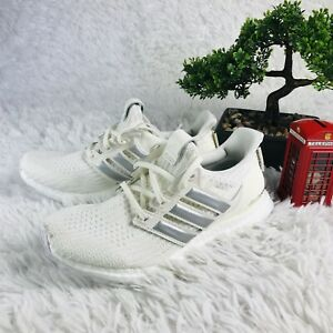 sports shoes e635f ea93e Details about Adidas Ultra Boost x Game of Thrones Targaryen Off White  Silver Womens 8 EE3711