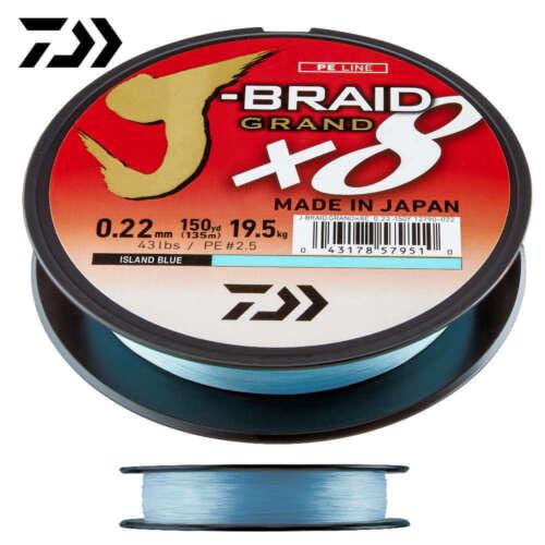 10m Daiwa J-Braid Grand X8 Blau NEU Stärke zur Auswahl Daiwa Mastershop