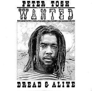 """/"""" Wanted Dread ou Alive /"""" Peter Tosh Rétro Pochette D/' Album Affiche"""
