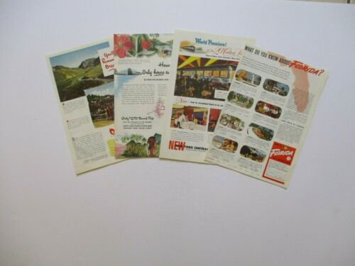 "10/"" by 7/"" Vintage 1948 Travel Advertising Prints.4 Available.Pick 1 From List"
