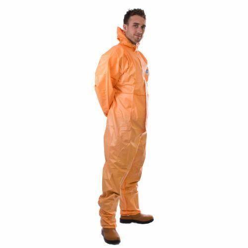 Naranja SMS Supertex Plus desechables Boilersuit con Capucha pintura a pistola tipo 5//6