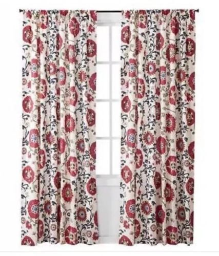 Target Mudhut Curtain One Window Panel Makayla Multicolor 55x84 For Sale Online Ebay