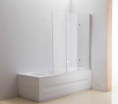 Duschabtrennung Badewanne 140x130 cm Klarglas ESG Sicherheitsglas Nano Duschwand