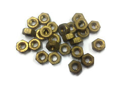"""Pack of 25, 3/16"""" UNC / Whitworth Coarse Thread Brass Nuts"""