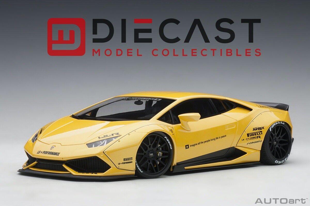 Autoart 79124 Liberty Walk LB-funciona Lamborghini Huracan-alcanzado. escala 1 18TH giallo