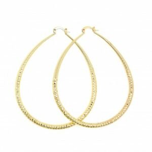 Details About Extra Large Real 14k Gold Filled Womens Xl Size 85mm X 4 3mm Hoop Earrings