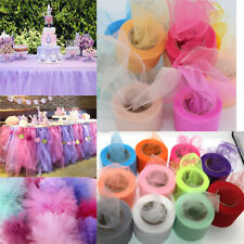 2x 25YD Tutu Tulle Roll Spool Netting Craft Fabric Wedding Party Decoration Diy