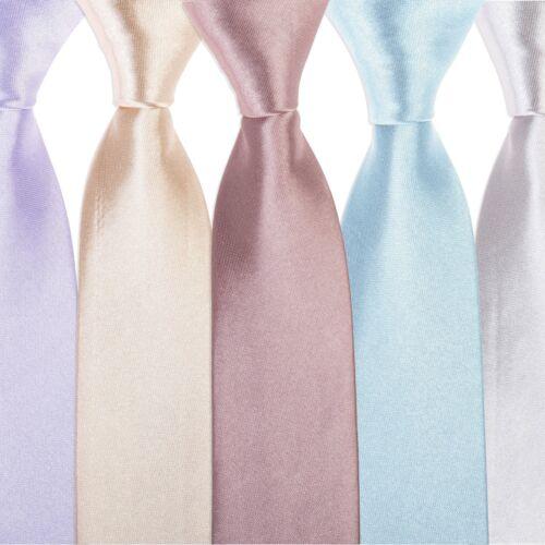 """Blue Red Pink Purple 5pc Tie Co Men/'s Slim 2/"""" 4.5cm Tie Work Wedding Gift Set"""