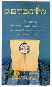 """Vintage Advertising Brochure: """"DETECTO"""" Bathroom Scales"""