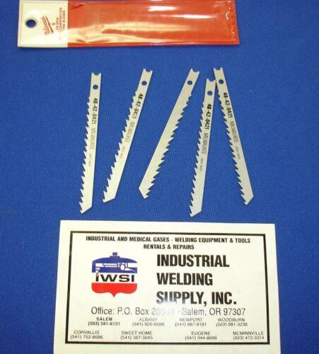 "Milwaukee Jigsaw Blades 3-5//8/"" 6 TPI 48-42-0421 $15 5"