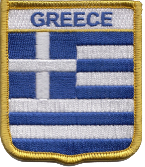 Greece Flag Shield Embroidered Patch Badge *