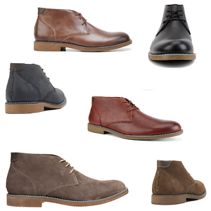 Mens-Hush-Puppies-Terminal-Boots-Lace-Up-Navy-Black-Gunsmoke-Brown-Leather-Shoes